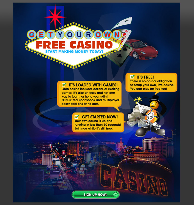 Online Casino Splash Page